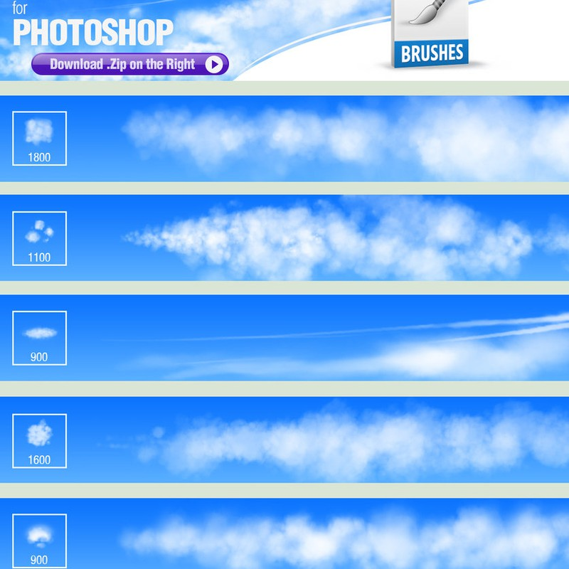 Photoshop brushes clouds