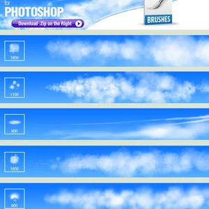 Clouds Painting Brushes Pack