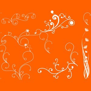 Photoshop brushes ornamental, swirls