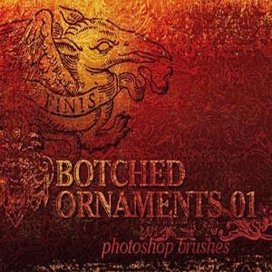 Photoshop brushes ornaments, grunge