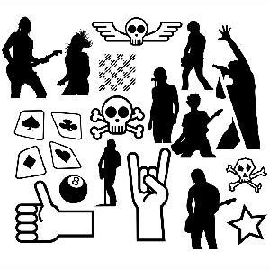 Photoshop brushes band, silhouettes, punk