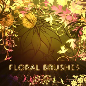 Photoshop brushes floral, corners