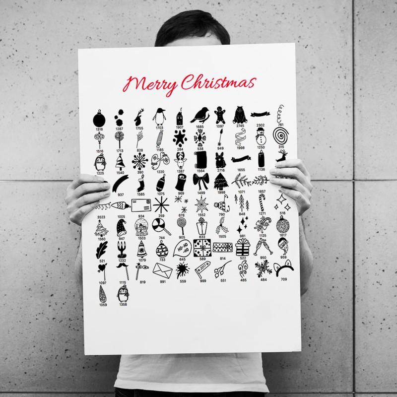 Photoshop brushes Christmas set, santa