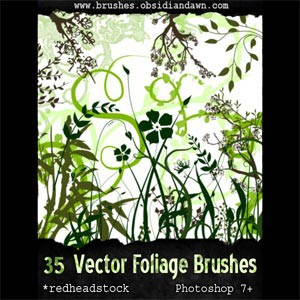 Photoshop brushes foliage, plants