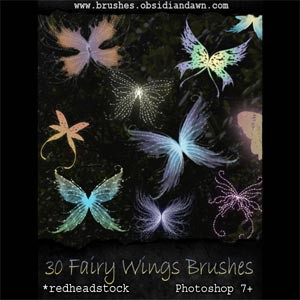 Photoshop brushes wings, fairy, collection