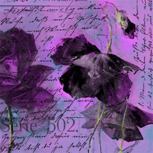 Photoshop brushes old, postcard, flowers
