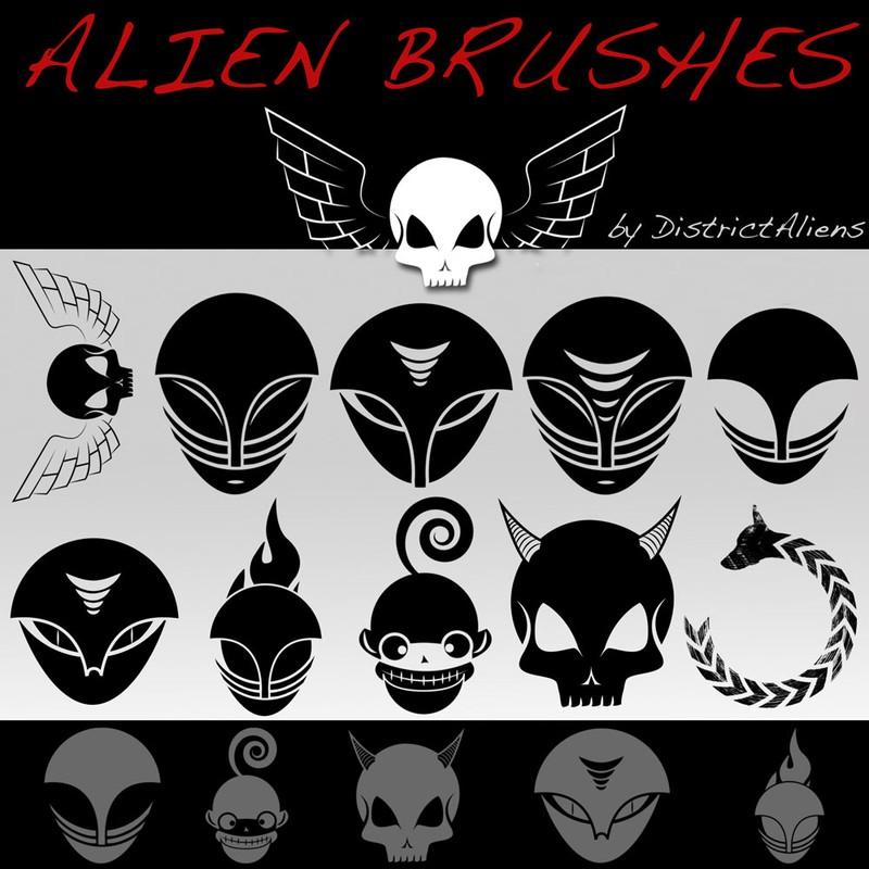 Photoshop brushes aliens