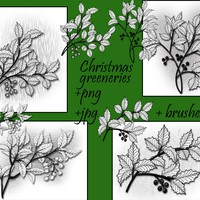 Christmas Greeneries Brushes