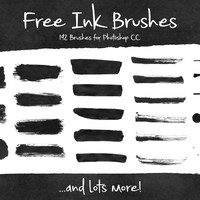 192 Free Ink Brushes for Photoshop