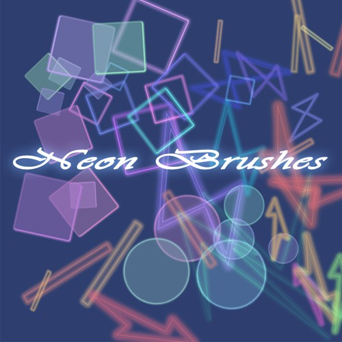 Photoshop brushes neon,abstract
