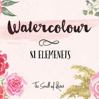 Watercolor Flower Brushes - The Smell of Roses