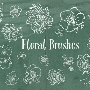 Floral Brushes - The Smell of Roses