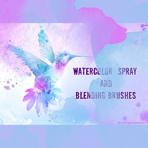 Watercolor Spray Brushes