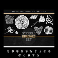 Scribble Brushes for Adobe Photoshop