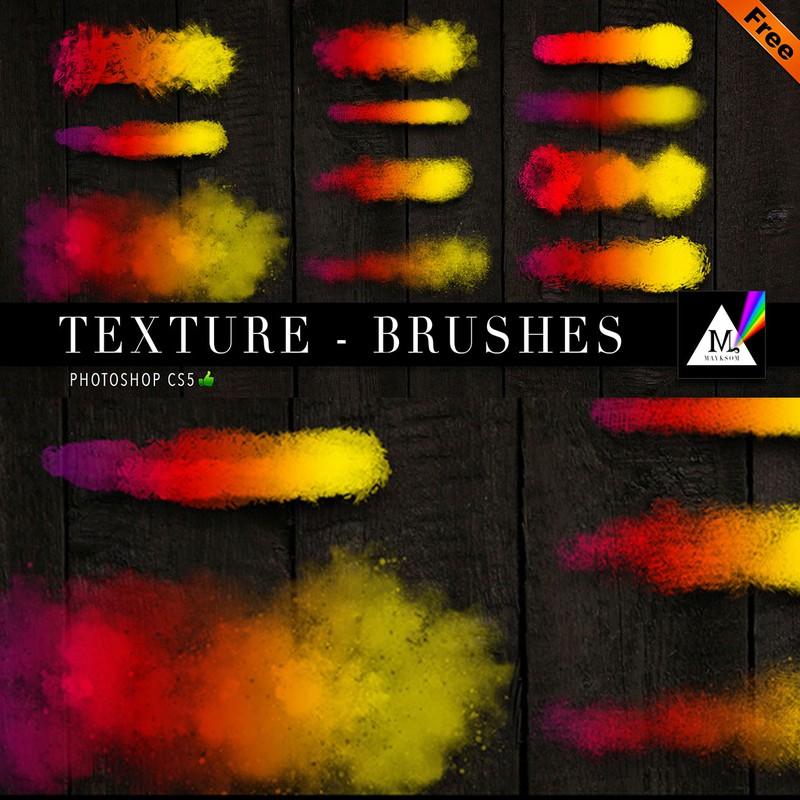 Photoshop brushes texture, stroke