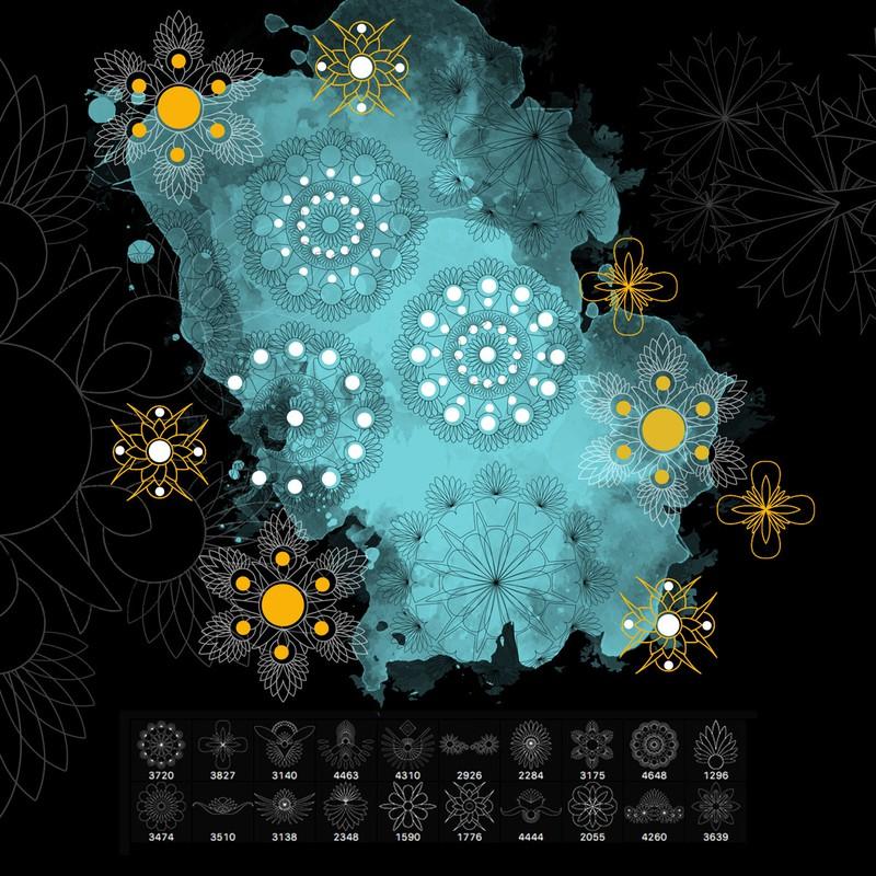 Photoshop brushes ornament,elements