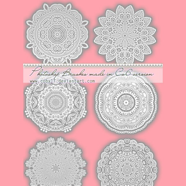 Photoshop brushes lace, round