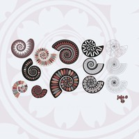 106 Ammonite Spiral Brushes