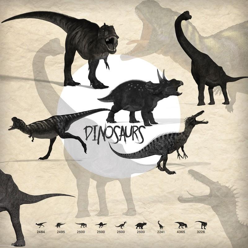 Photoshop brushes animals, prehistory, dinosaur