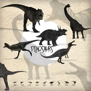 Dinosaurs Brushes