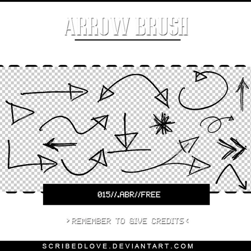 Photoshop brushes arrow, direction, symbol