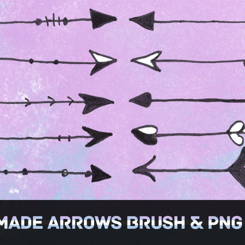 Photoshop brushes arrows, handmade