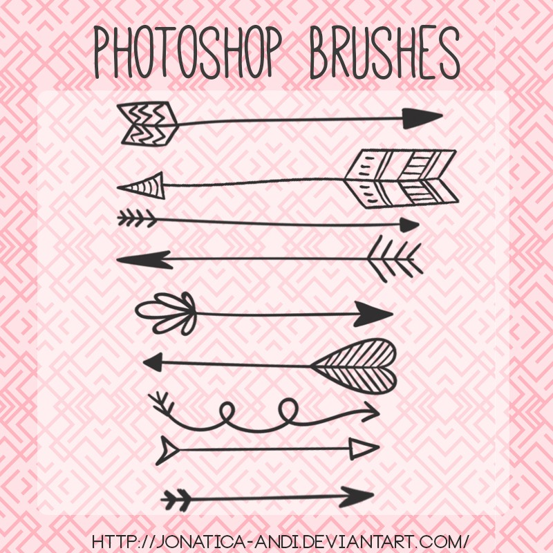 Photoshop brushes arrows, pack