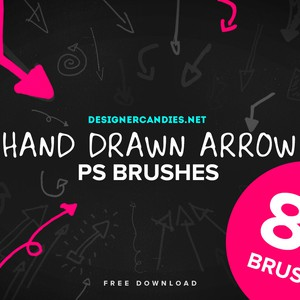 80 Hand Drawn Arrows PS Brushes