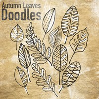 Autumn Leaves Doodles Brushes