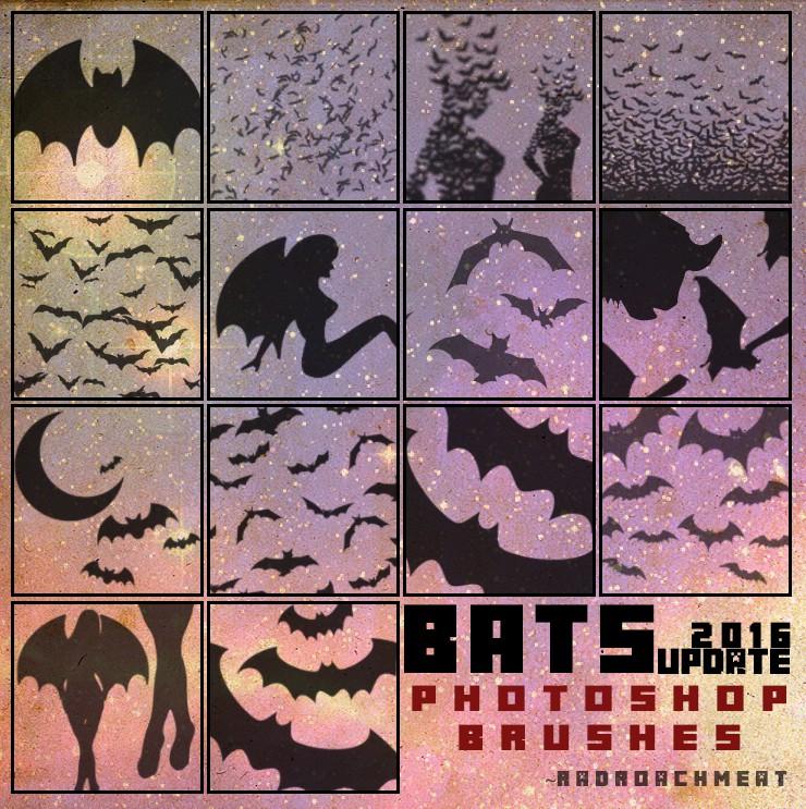 Photoshop brushes bat, scary