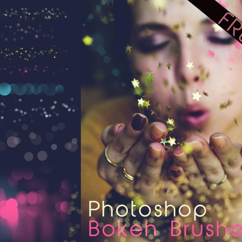Photoshop brushes bokeh, effect