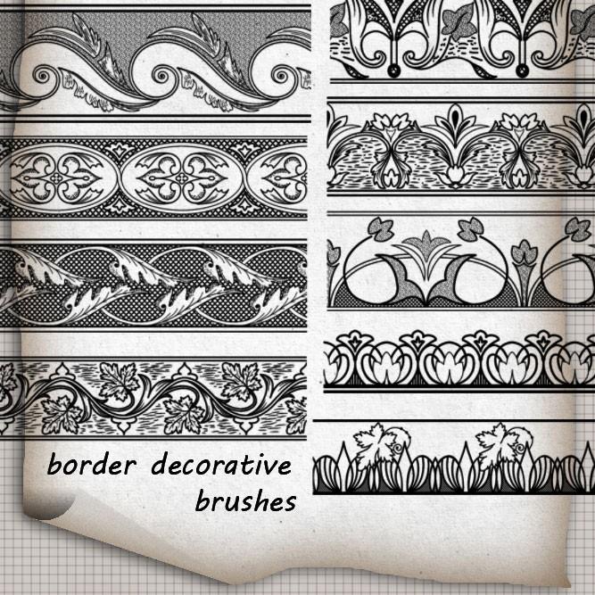 Photoshop brushes border, ornament