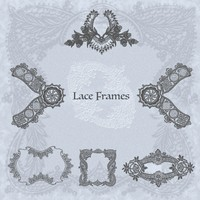 Lace Frames Brushes