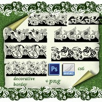 7 Decorative Borders Brushes