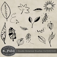 Botanical Doodle Photoshop Brushes