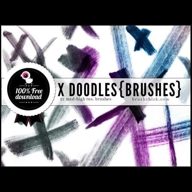 Photoshop brushes doodles