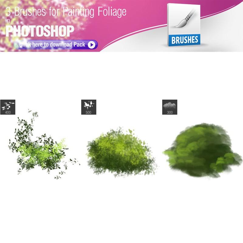 Photoshop brushes foliage