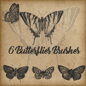 6 Butterflies Brushes