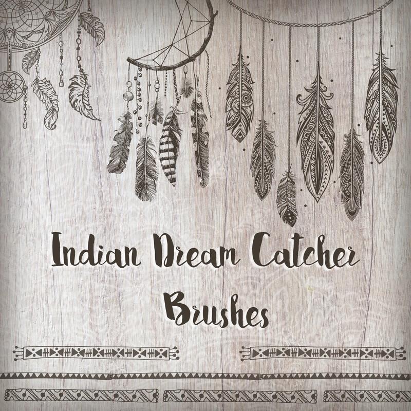 Photoshop brushes catcher, indian