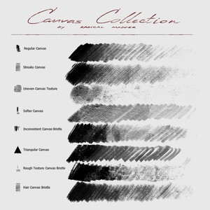 Canvas Brushes Collection