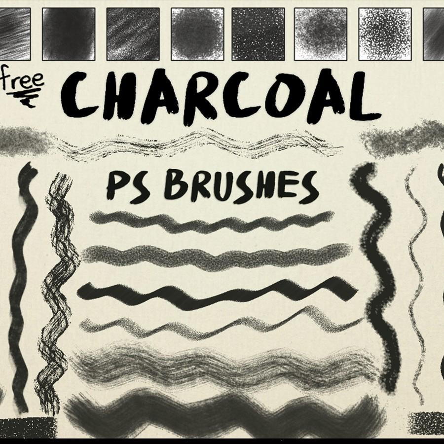Photoshop brushes charcoal, stroke