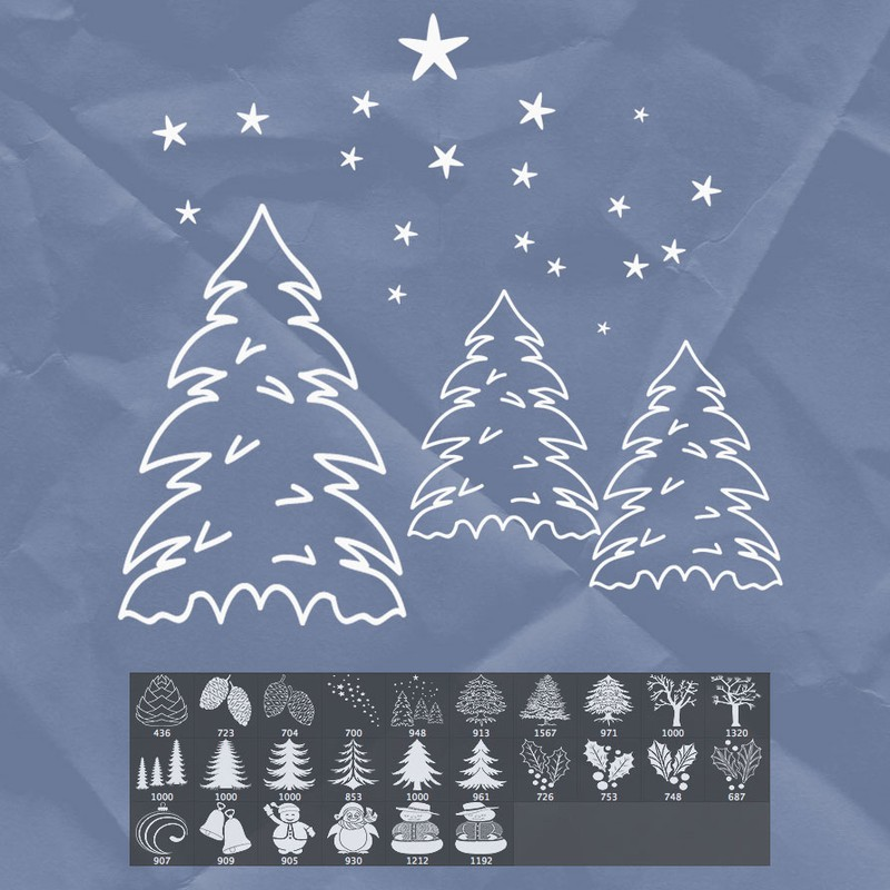 Photoshop brushes christmas tree