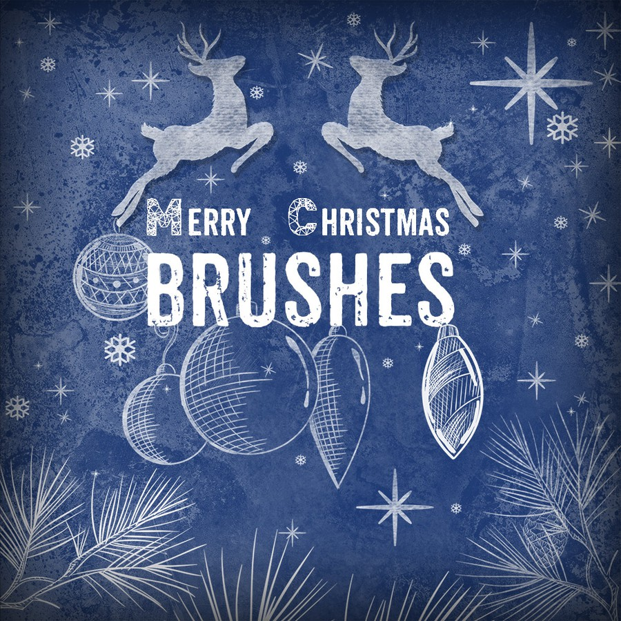 Photoshop brushes Christmas, illustration