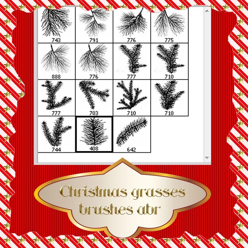 Photoshop brushes christmas twig