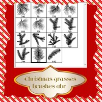 Christmas Grasses Brushes