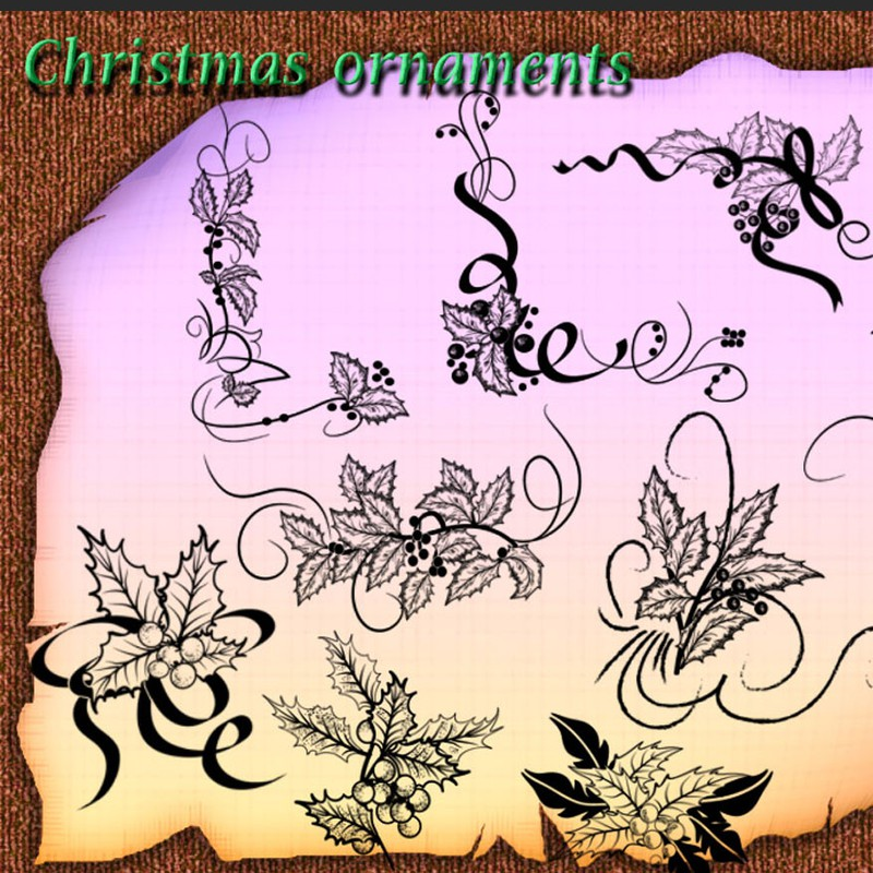 Photoshop brushes christmas, ornament