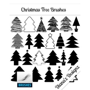 32 Christmas Tree Brushes