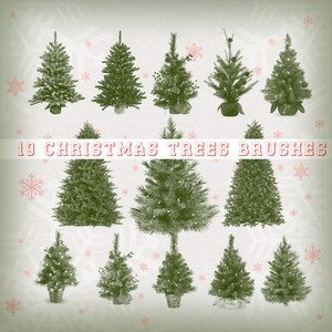 19 Christmas Trees Brushes