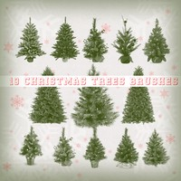 19 Christmas Trees Brushes