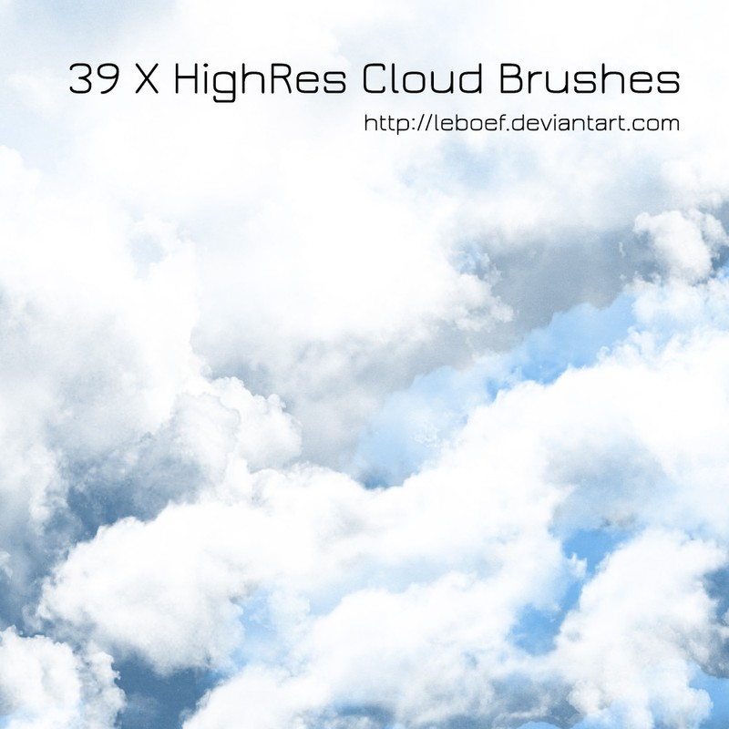 Photoshop brushes cloud